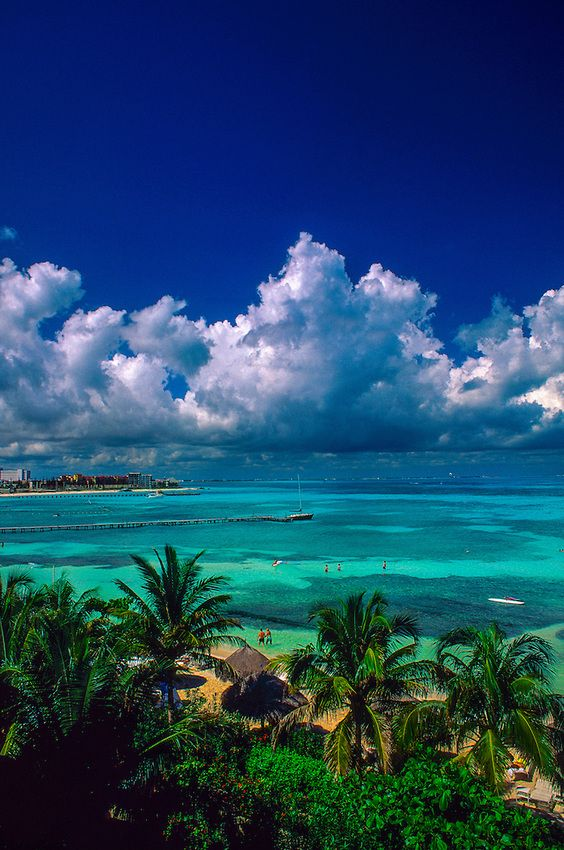 Cancun, Mexico: Spent 5 days here w/an ex-BF in 2002. I scuba dived for the first time on this trip.
