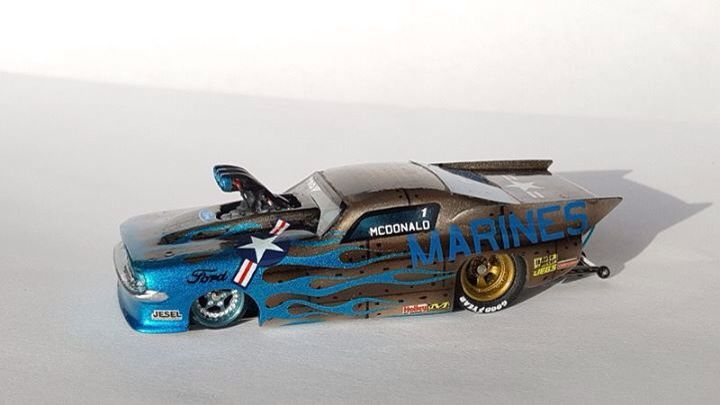 Ho scale drag racing slot car