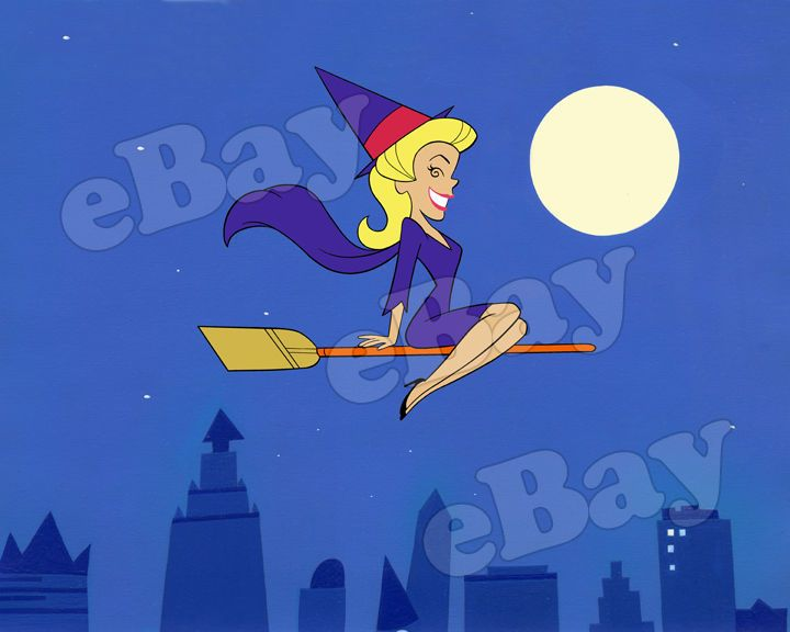 EXTRA LARGE! BEWITCHED Poster Print HANNA BARBERA Elizabeth Montgomery  | eBay