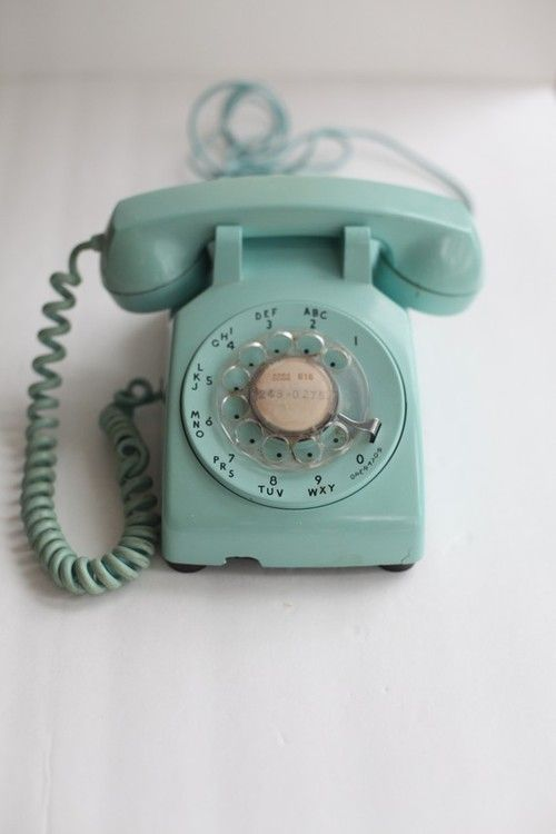 I want this exact color phone, and would love for it still to have its original exchange name written on the rotary center.
