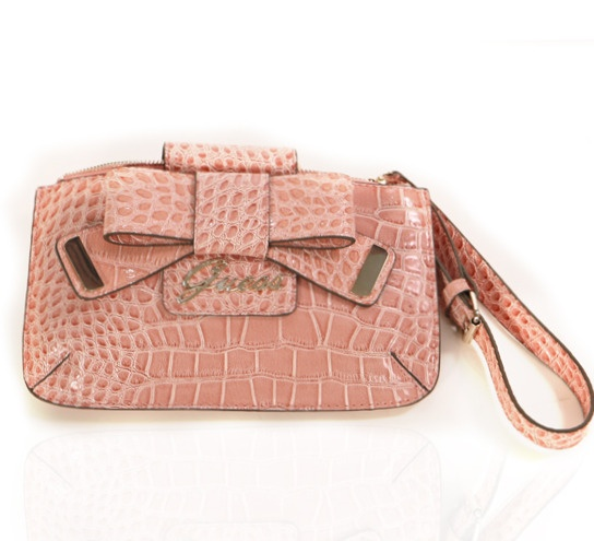 Guess Pink Clutch on glamouronthego.co.uk