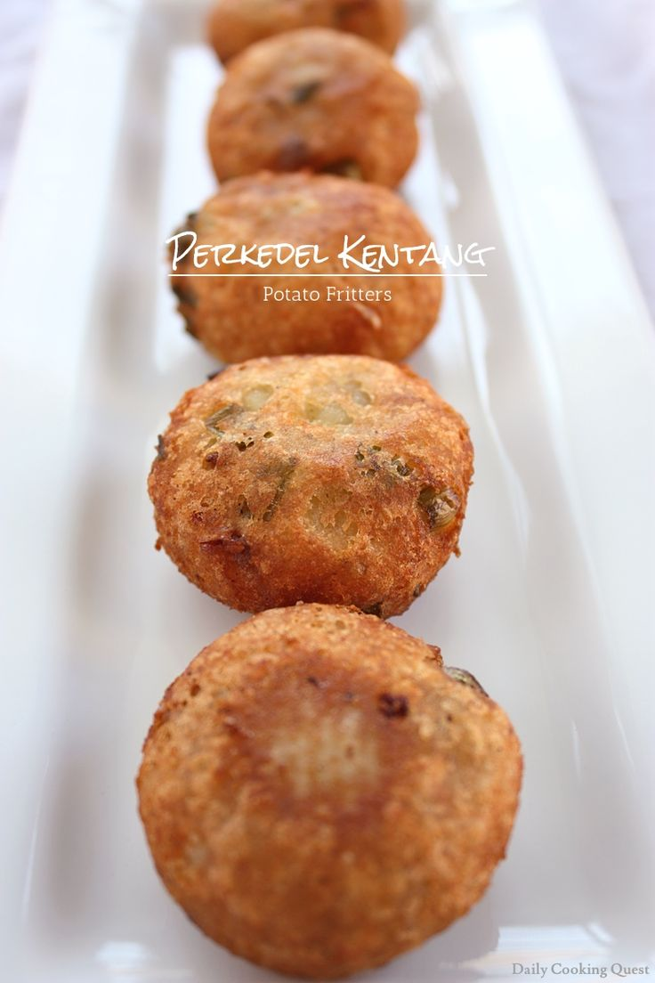 Perkedel Kentang - Potato Fritters **** add a can corned beef ... soooo GOOD!!!!!