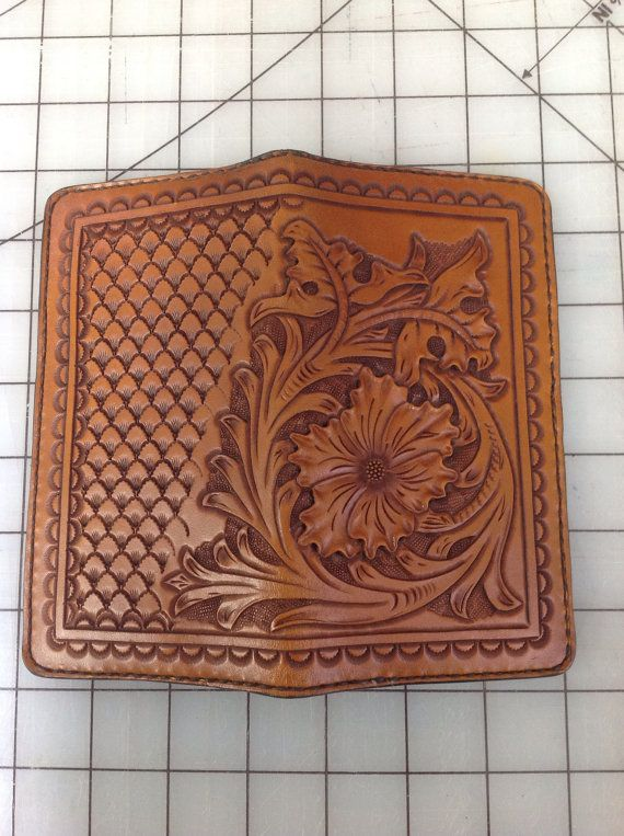 Ready To Ship Custom Tooled Roper Wallet Check Book