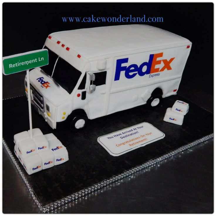 Retirement Fedex Truck All Cake Cakes For Men