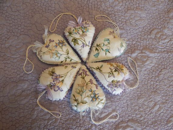Blossom Spring Heart Ornaments by cuoredamore on Etsy
