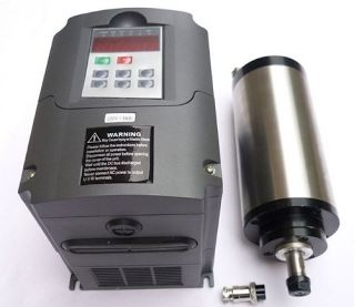 REVIEW!! Gowe®2.2kw Water-cooled/er20/japanese Bearing Spindle Motor and 2.2kw Matching Inverter, Water-cooled Spindle Motor 2.2kw Inverter