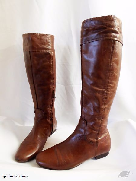 ISABELLA ANSELMI size 39.5 soft leather kneehigh boots