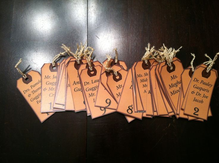 Luggage tag table assignments. For all around the world themed rehearsal dinner