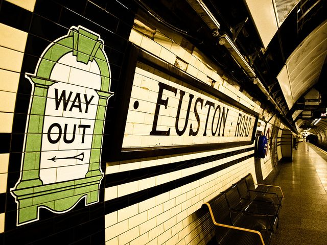 London tube. Euston Stn. Where we caught the train to Liverpool.