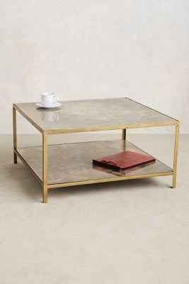 Pottery Barn Zinc Top Coffee Table
