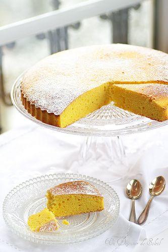 Un dejeuner de soleil: Gâteau au maïs, ricotta et agrumes. Amor polenta?