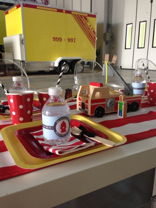 Anders Ruff Custom Designs, LLC: Stylish Fire truck Party – A Great Winter Indoor Birthday Party Theme