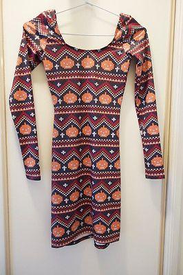 Not Actually Knitted Pumpkin long sleeve dress - From aliciarosem (ebay seller)