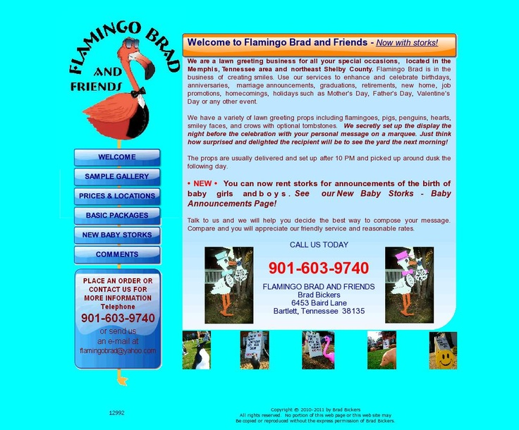 Flamingo Brad and Friends in Bartlett, TN Sign company