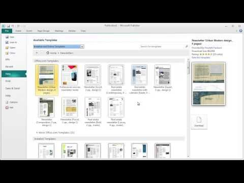ms publisher template