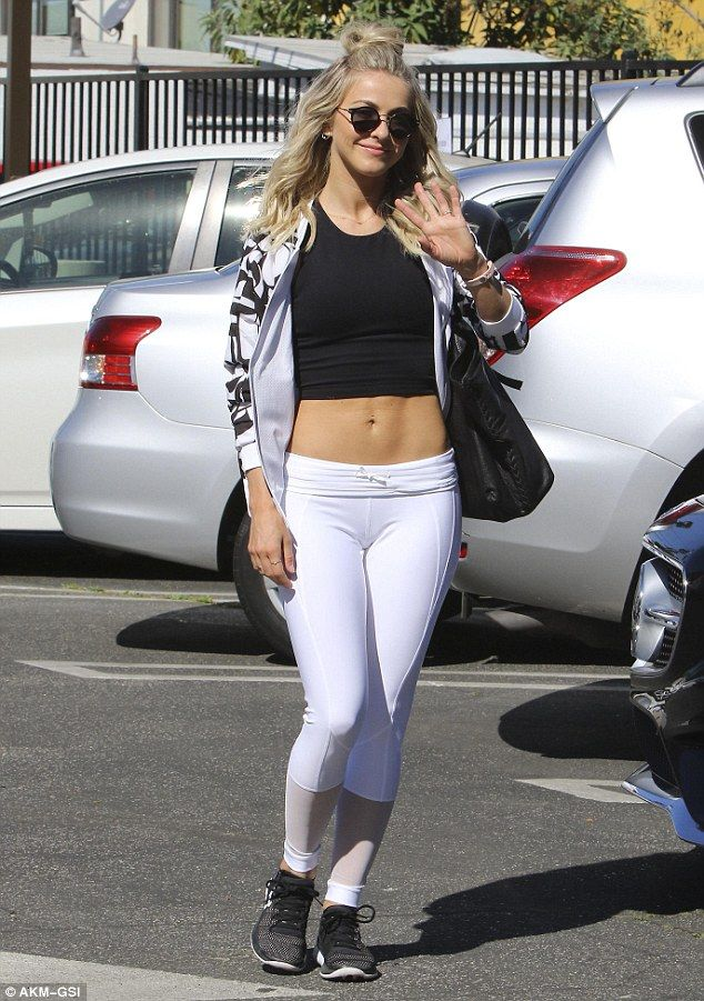 Abs-olutely stunning! Julianne Hough flaunted her toned torso as she stepped out in Los An...