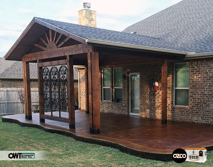 Attached Pavilion Using Owt Hardware On A Stained Patio