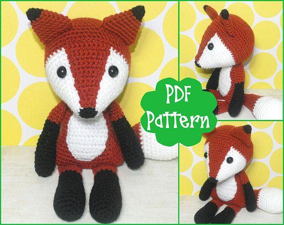 PDF  Fox Crochet Pattern Fox Amigurumi Amigurumi Pattern