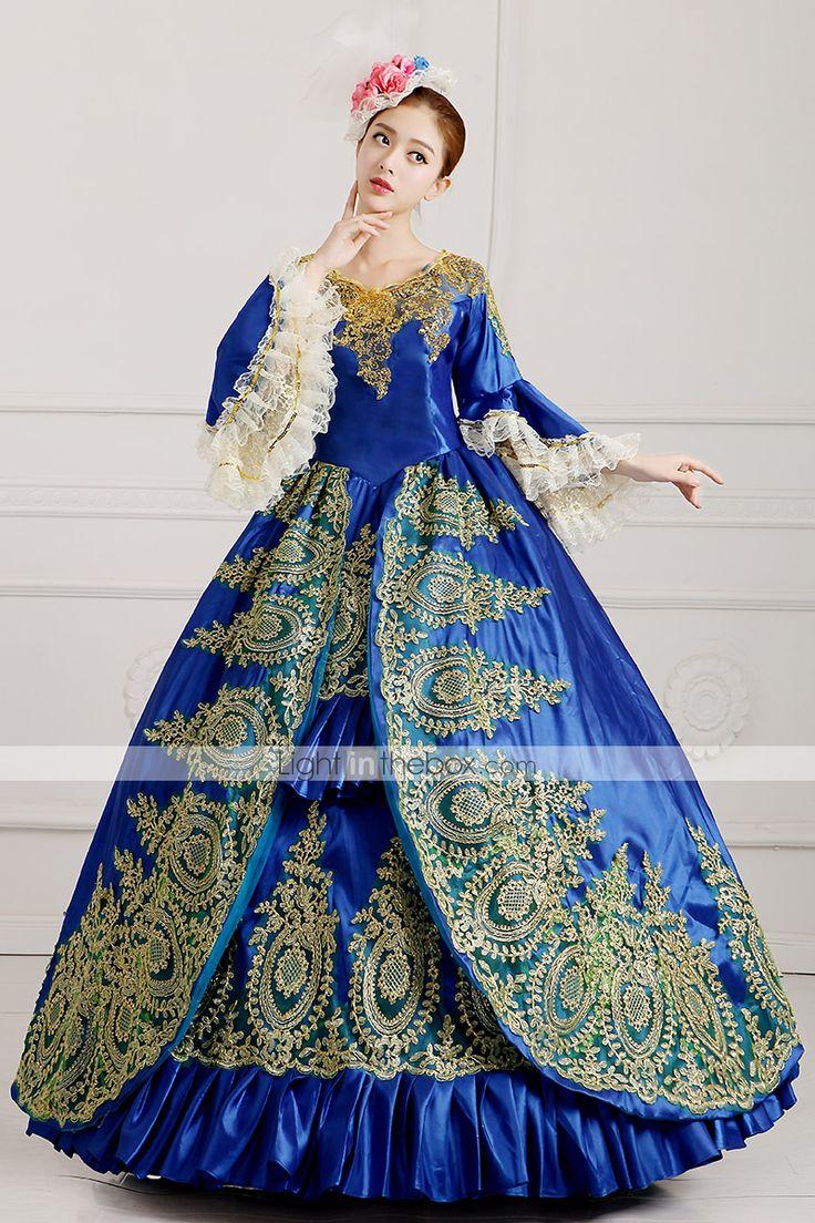 vendita steampunk®top reale dell'abito di sfera blu partito vittoriano wholesalelolita rococò principessa abiti da ballo del 2016 a €255.77