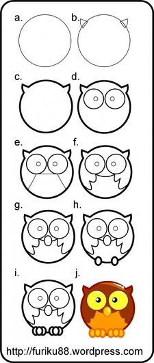 Owl drawing-how to