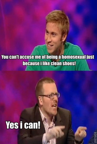 Clean shoes | Russell Howard and Frankie Boyle | Mock the Week- These two though... hahaha!!!!