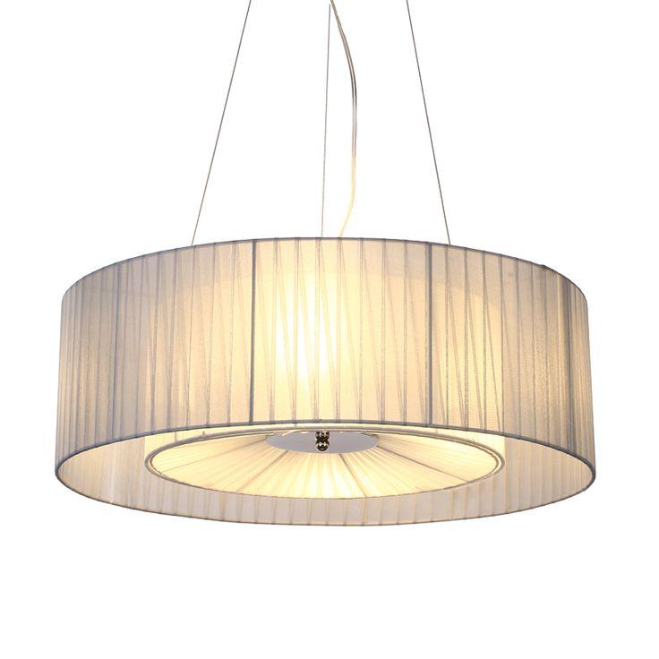 Nordic Fabric Circular Pendant Lights Personalized Creative Restaurant Lamp Simple Study Living Room