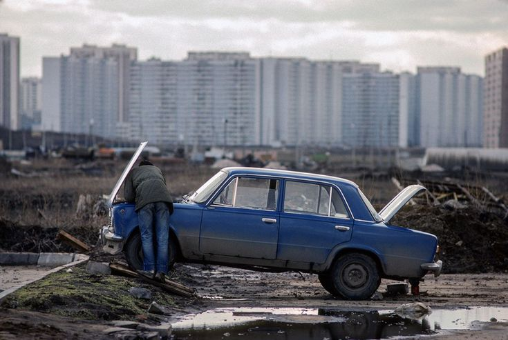 Chris Niedenthal Moscow suburbs 1989, USSR