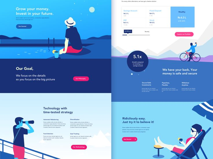 One of the explorations from the proposed revamp of wealthy's brand language and web experience. Bring a sense of simplicity and storytelling to a subject that is mostly driven by graphs and number...