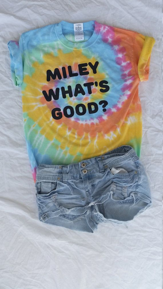 Hey, I found this really awesome Etsy listing at https://www.etsy.com/listing/246832021/miley-whats-good-pastel-tie-dye-shirt