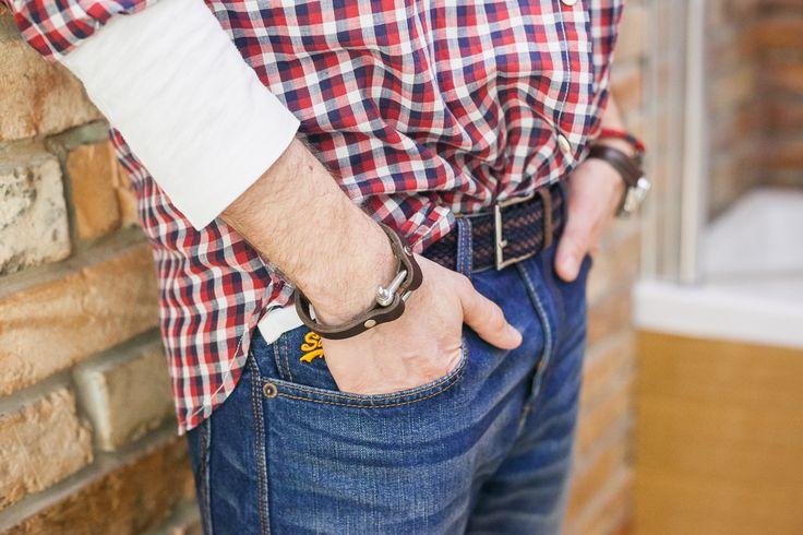 Brązowa bransoleta: SpringLeatherArt