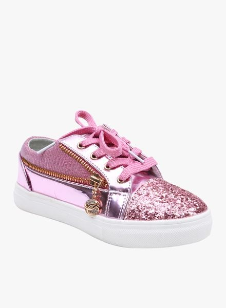 Lilliput Pink Synthetic Round Toe Shape Sneakers