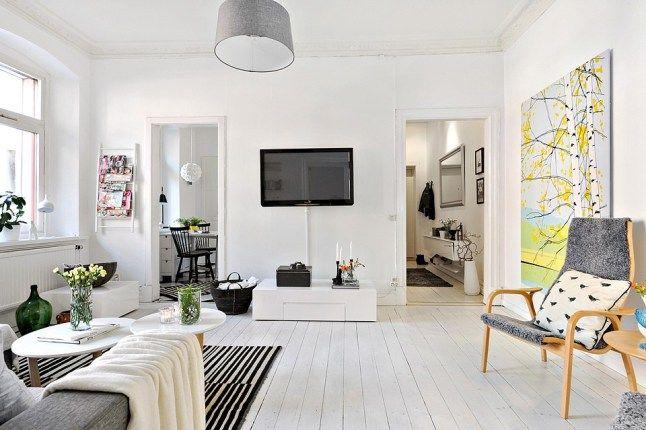 Small Scandinavian apartment @ http://maisonfiles.blogspot.com