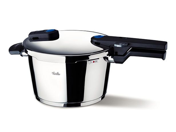 Pressure Cooker : A pressure cooker uses steam and pressure to cook food in an insanely short amount of time while still developing deep flavors (and the newer models are much safer than the older ones). Use a pressure cooker to cook hearty, flavorful meals when you