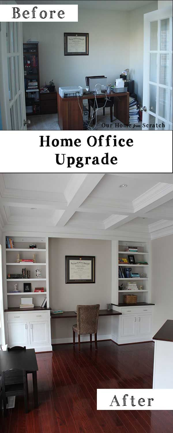 Home Office Remodel Before And After.