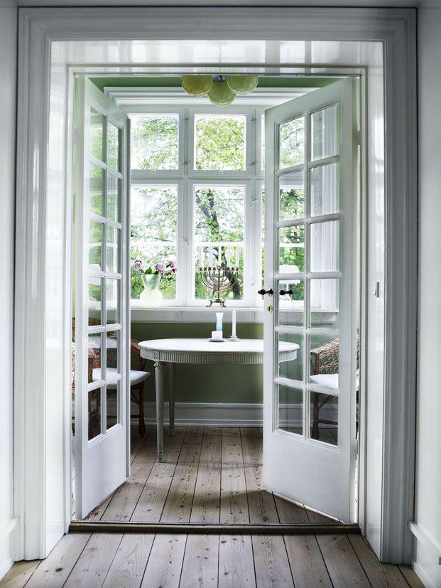 French doors and wide plank floors fence door window for Wide french doors