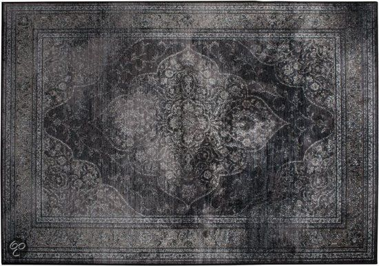 Dutchbone Rugged Dark - Vloerkleed - 200x300 cm - Zwart/Grijs