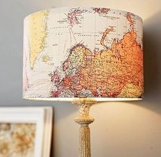 I need this lamp. There is a map on it. I love maps. I love lamps. I'm in love.