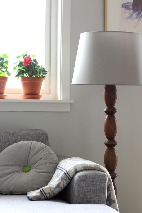 Et Nytt Kapittel - livingroom, retro lamp, pelargonia