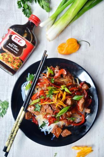 Tao Tao - Wołowina z papryką w ostrym sosie TaoTao - orientalne przepisy kulinarne