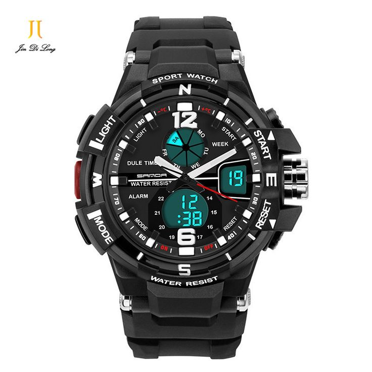 Fashion Men Sports Watches Digital Shock Resistant Quartz Watches Wristwatches Outdoor Waterproof Watches Free Shipping #Affiliate