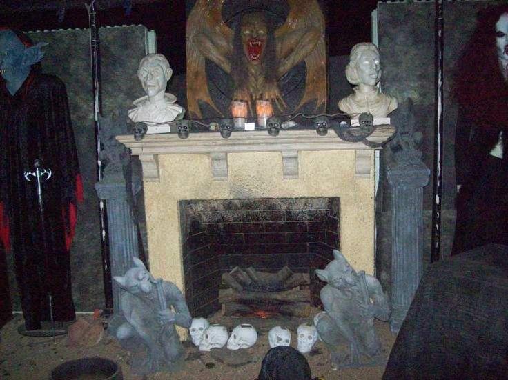 Halloween Fireplace Decorating Ideas