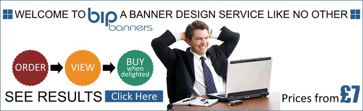 Banner Design Service - Professional Banner Design - Banner Design Service Like No Other - Bip Banners.  Banner currently featuring on our home page offers visitors a visual insight to our banner design services. This banner is created in animated .gif format but gives the effect of a  'flash' banner design.