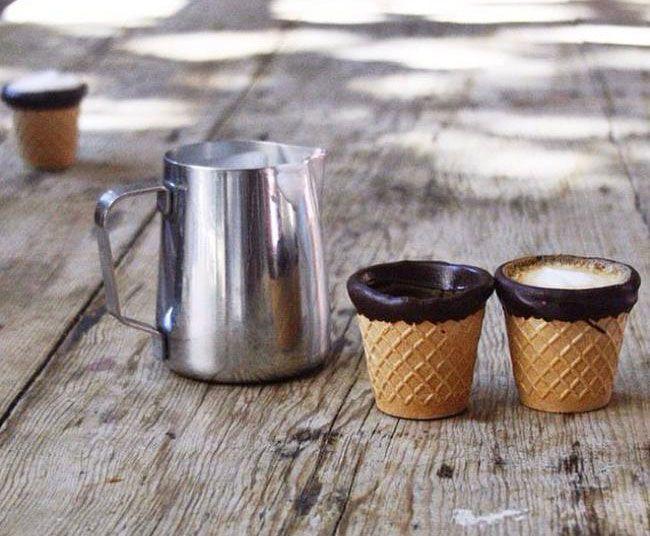 Les tasses à café comestibles d'Alfred