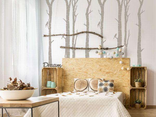 New Coole Ideen f r das Jugendzimmer Wandtattoo Birkenst mme im M dchenzimmer in Braunt nen