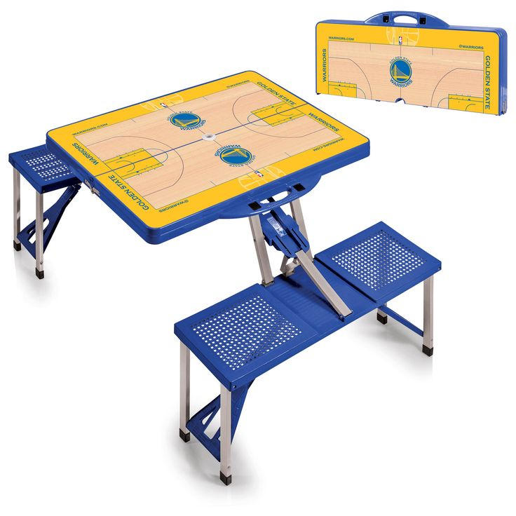 Golden State Warriors NBA Blue Portable Picnic Table