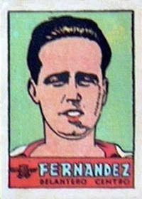 Fernández. Atlético de Madrid. 1941-42. Cromos Bruguera. Delantero centro reserva.