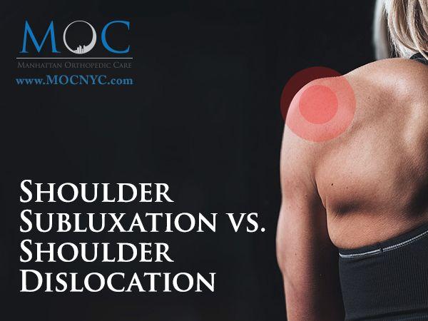 Shoulder Subluxation vs. Shoulder Dislocation