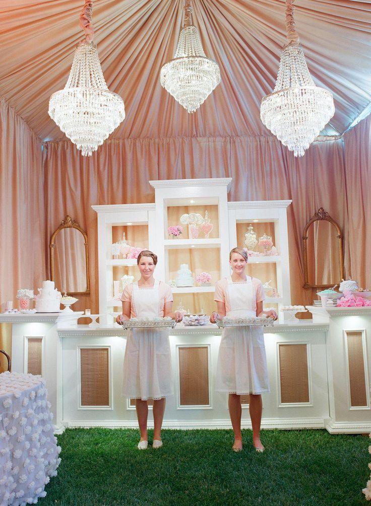 A French Patisserie, cute idea for wedding #desserts | Photography: elizabethmessina.com | Wedding Design: merrylbrownevents.com | Floral Design: mindyrice.com