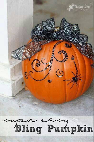 Great pumpkin decorating ideas from Michael's Craft Store.