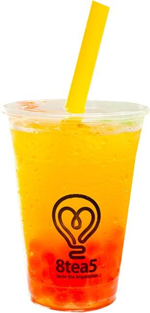 Peach Bubble Tea Menu 8tea5 @sylviadankwa